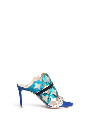 Main View - Click To Enlarge - Nicholas Kirkwood - 'Stella' star cutout metallic leather sandals