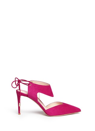 Main View - Click To Enlarge - Nicholas Kirkwood - 'Leda' cutout vamp suede pumps