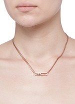'Move Pavé' diamond 18k rose gold necklace