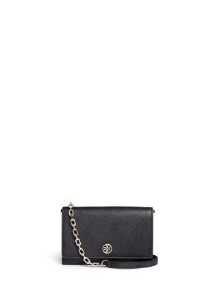 Tory Burch-'Robinson' saffiano leather chain wallet
