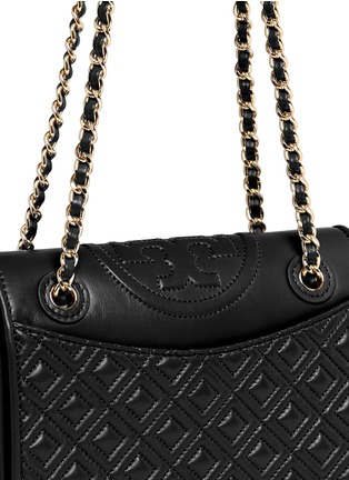Detail View - Click To Enlarge - Tory Burch - 'Fleming' medium quilted leather bag