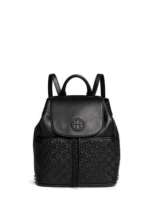 Main View - Click To Enlarge - Tory Burch - 'Marion' quilted leather backpack