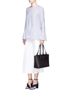 TORY BURCH'York' small leather buckle tote