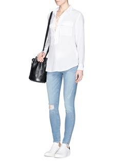 EQUIPMENT'Knox' lace up silk shirt