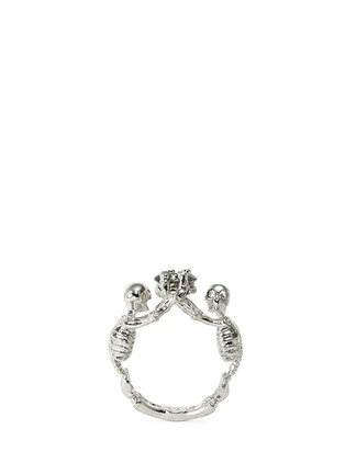 Main View - Click To Enlarge - Alexander McQueen - Skeleton crystal ring