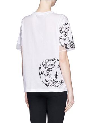 背面 - 点击放大 - ALEXANDER MCQUEEN - Blossom embroidery organza sleeve T-shirt