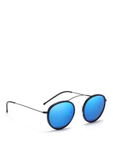 SPEKTRE'MET-RO' lightweight round metal sunglasses