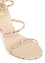 'Snake' strass spring coil anklet sandals