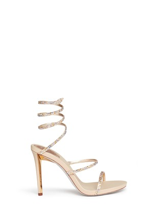 Main View - Click To Enlarge - René Caovilla - 'Snake' strass spring coil anklet sandals
