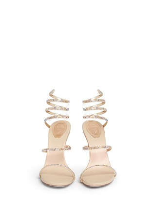 Figure View - Click To Enlarge - René Caovilla - 'Snake' strass spring coil anklet sandals
