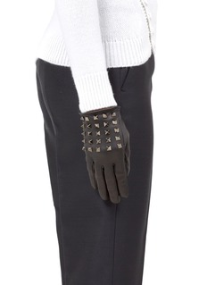 VALENTINO Rockstud leather gloves