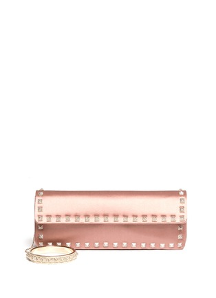 Main View - Click To Enlarge - Valentino - Rockstud Bal crystal pavé wristlet clutch