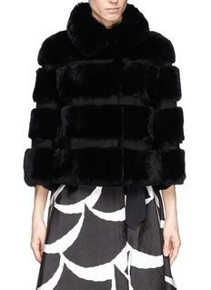 DIANE VON FURSTENBERG'Loretta' rabbit fur coat