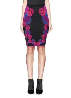DIANE VON FURSTENBERGFloral stretch knit skirt