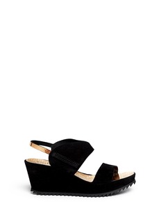 PEDRO GARCIA'Freia'' metallic cubic insole platform wedge sandals