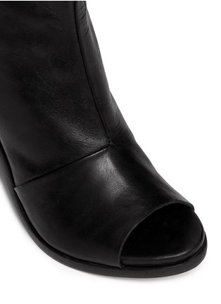Detail View - Click To Enlarge - rag & bone - 'Noelle' peep toe leather boots