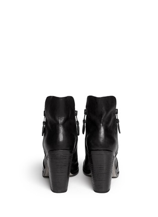 Back View - Click To Enlarge - rag & bone - 'Noelle' peep toe leather boots