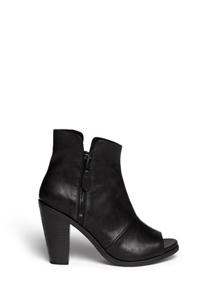Main View - Click To Enlarge - rag & bone - 'Noelle' peep toe leather boots