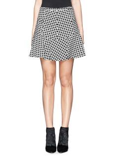 DIANE VON FURSTENBERG'Flirty' basketweave print flare skirt
