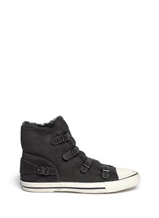 ASH Virginy' suede  shearling sneakers