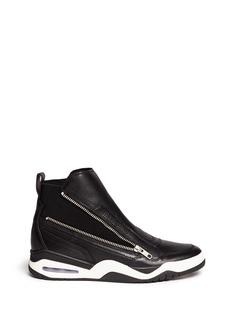 ASH'Farah' neoprene sock zip leather sneakers
