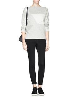 VINCEGeometric wool-cashmere sweater