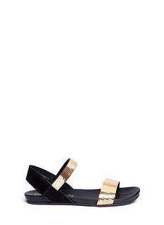 PEDRO GARCIA'Jenel' metallic cubic strap sandals