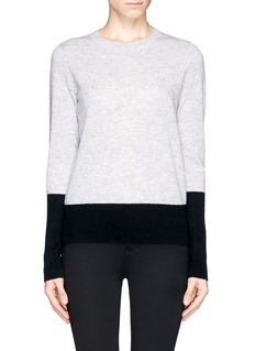 VINCE Bicolour cashmere sweater