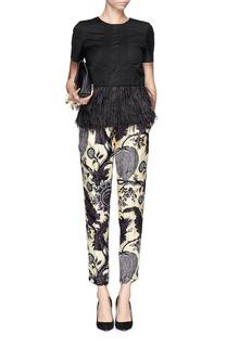 J. CREWCollection noir floral pant