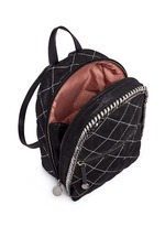 'Falabella' mini quilted shaggy deer chain backpack