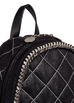 Detail View - Click To Enlarge - Stella McCartney - 'Falabella' mini quilted shaggy deer chain backpack