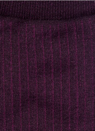 Detail View - Click To Enlarge - HANSEL FROM BASEL - Silk rib crew socks