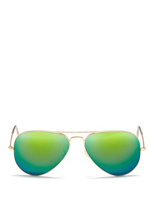 RAY-BAN-'Aviator Large Metal' mirror sunglasses