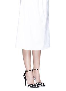 Stella Luna'Petit Pois' polka dot print d'Orsay pumps