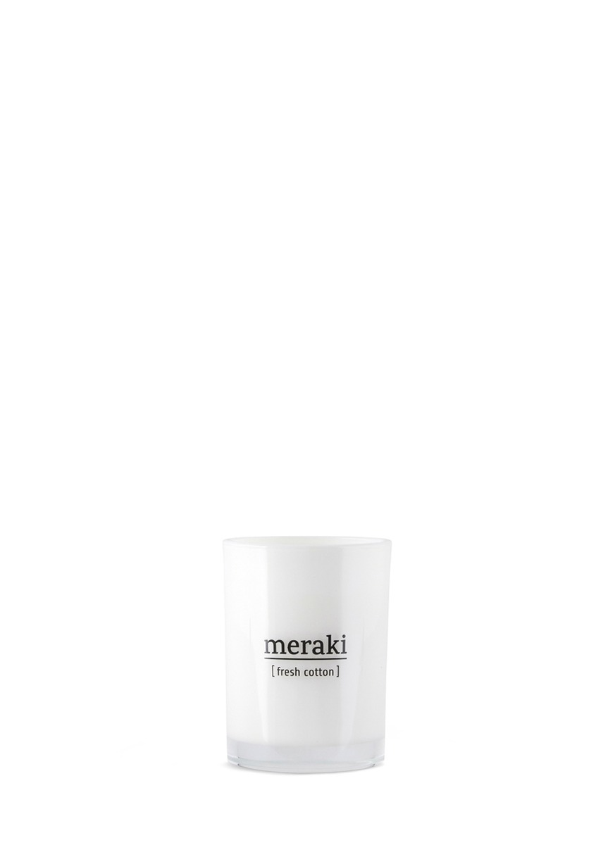 Fresh Cotton scented candle by Meraki