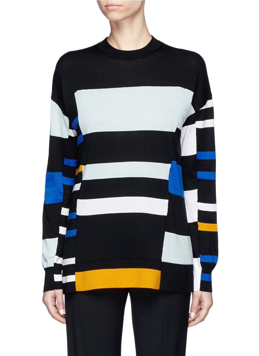 Stripe cotton blend sweater by Proenza Schouler