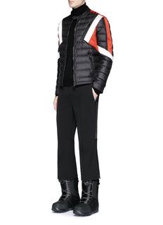 Neil BarrettSatin stripe flare cropped ski pants