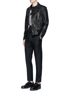 Neil BarrettStud embellished buffalo leather jacket