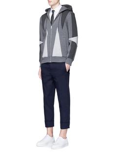 Neil Barrett'Abstract Modernist' panel hoodie