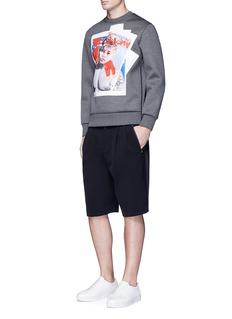 Neil Barrettx Interview 'Mark Di Caprio' hybrid print sweatshirt