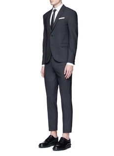Neil BarrettThunderbolt cufflink tuxedo shirt