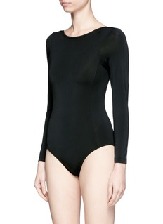 Beth Richards 'Shade' scoop back long sleeve swimsuit