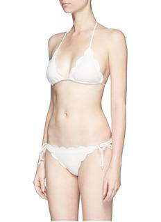 Marysia'Broadway' scalloped triangle bikini top