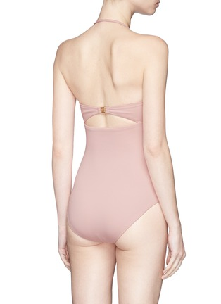 Back View - Click To Enlarge - Marysia - 'Antibes' cutout bow bandeau maillot