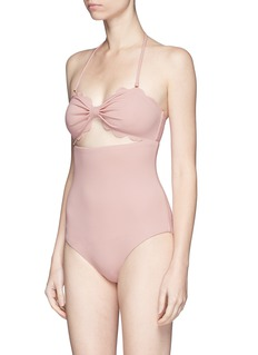 Marysia'Antibes' cutout bow bandeau maillot