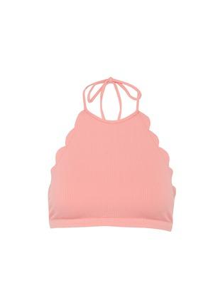Main View - Click To Enlarge - Marysia - 'Mott' scalloped halterneck bikini top