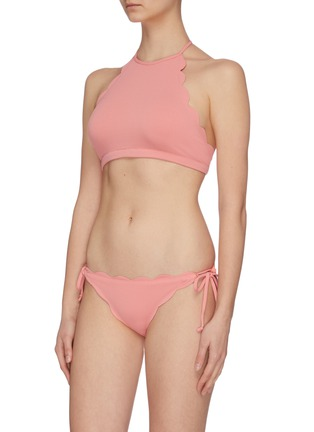 Figure View - Click To Enlarge - Marysia - 'Mott' scalloped halterneck bikini top
