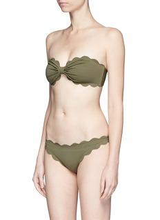 Marysia'Antibes' scalloped bikini bottoms