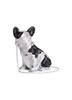 Judith Leiber'French Bulldog Fred' crystal pavé minaudière