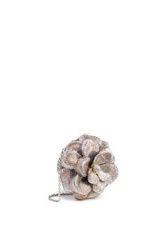 Judith LeiberMagnolia Sweet Bay' crystal pavé minaudière